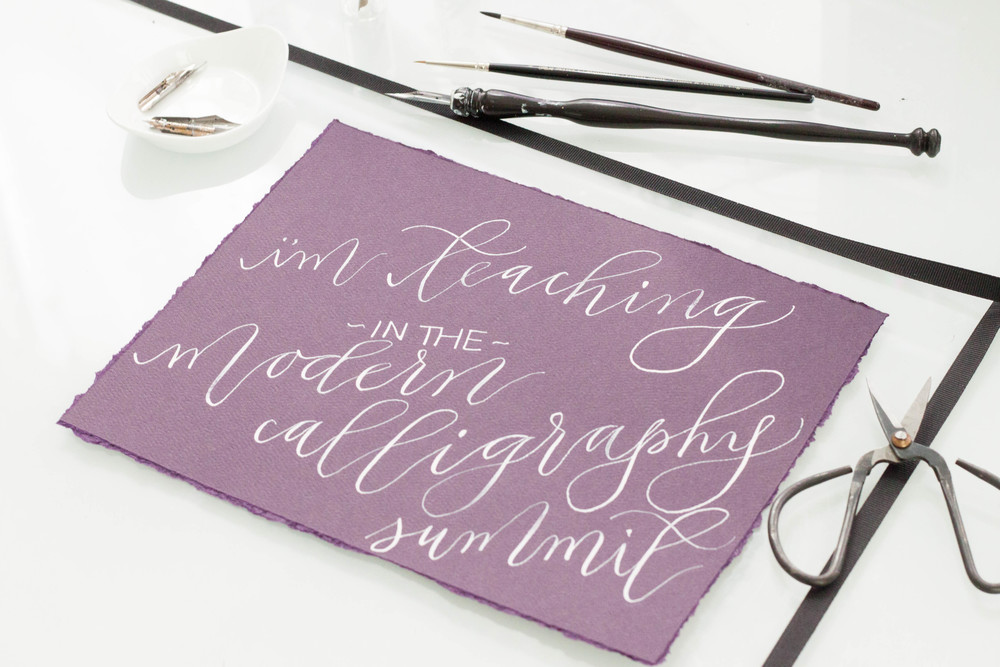 Announcement modern calligraphy summit — design house