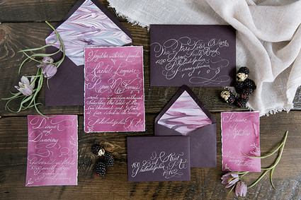 Design House of Moira | Watercolor Calligraphy Wedding Invitations