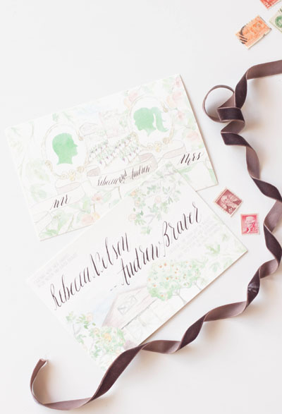 Design House of Moira | Custom Illustrated Invitations