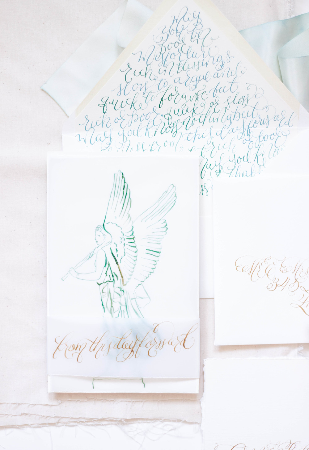 Captivating Design House Of Moira | Calligraphy Wedding Invitations | Ireland