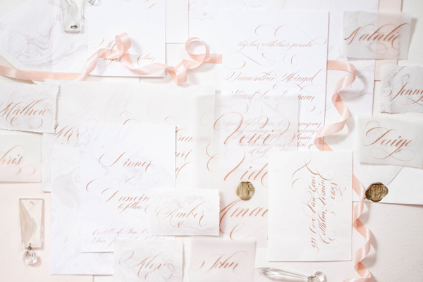 Design House of Moira | Calligraphy Wedding Invitation