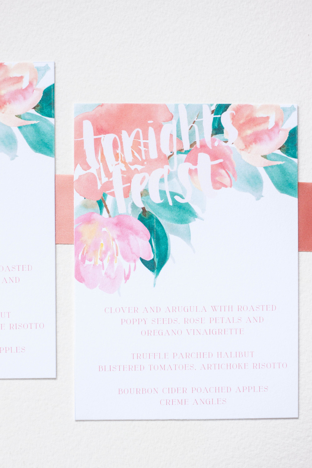 Design House of Moira | Custom Artwork Floral Wedding Invitation