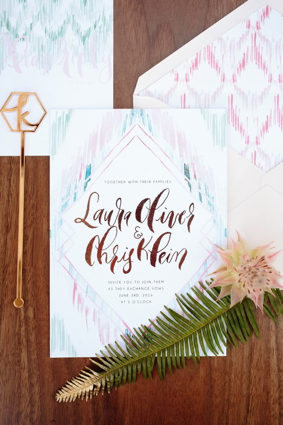 Design House of Moira | 100 Layer Cake | Summer Bohemian Wedding Invitations
