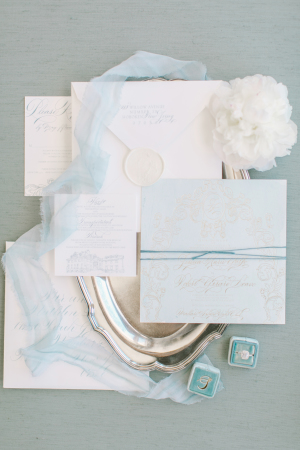 Design House of Moira | Love and Light Photography | French Blue Invitations