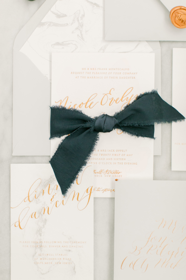 Design House of Moira | Marbled Invitations | Love & Light Photography