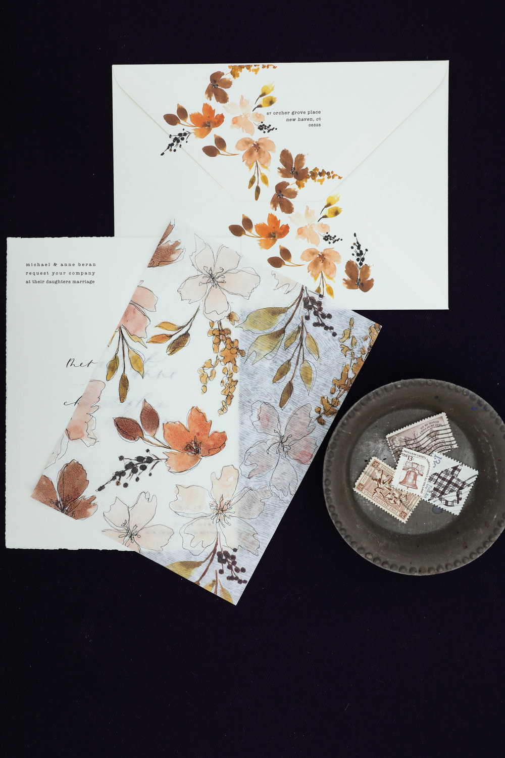Design House of Moira | Bespoke | Fall Autumn Invitation