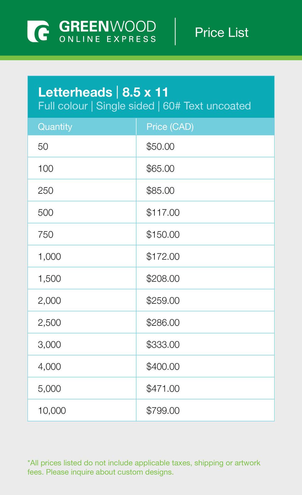 Greenwood letterheads price list.jpg
