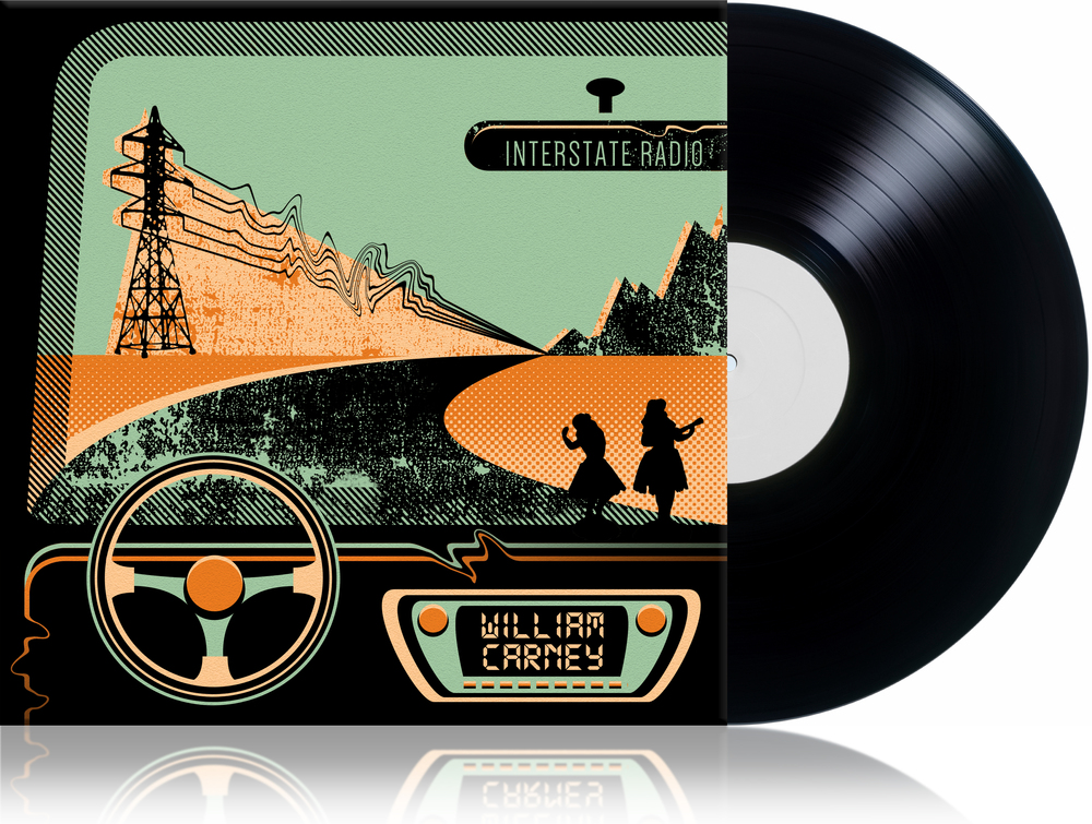 "This is an album cover designed for the artist  William Carney  entitled ""Interstate Radio"""