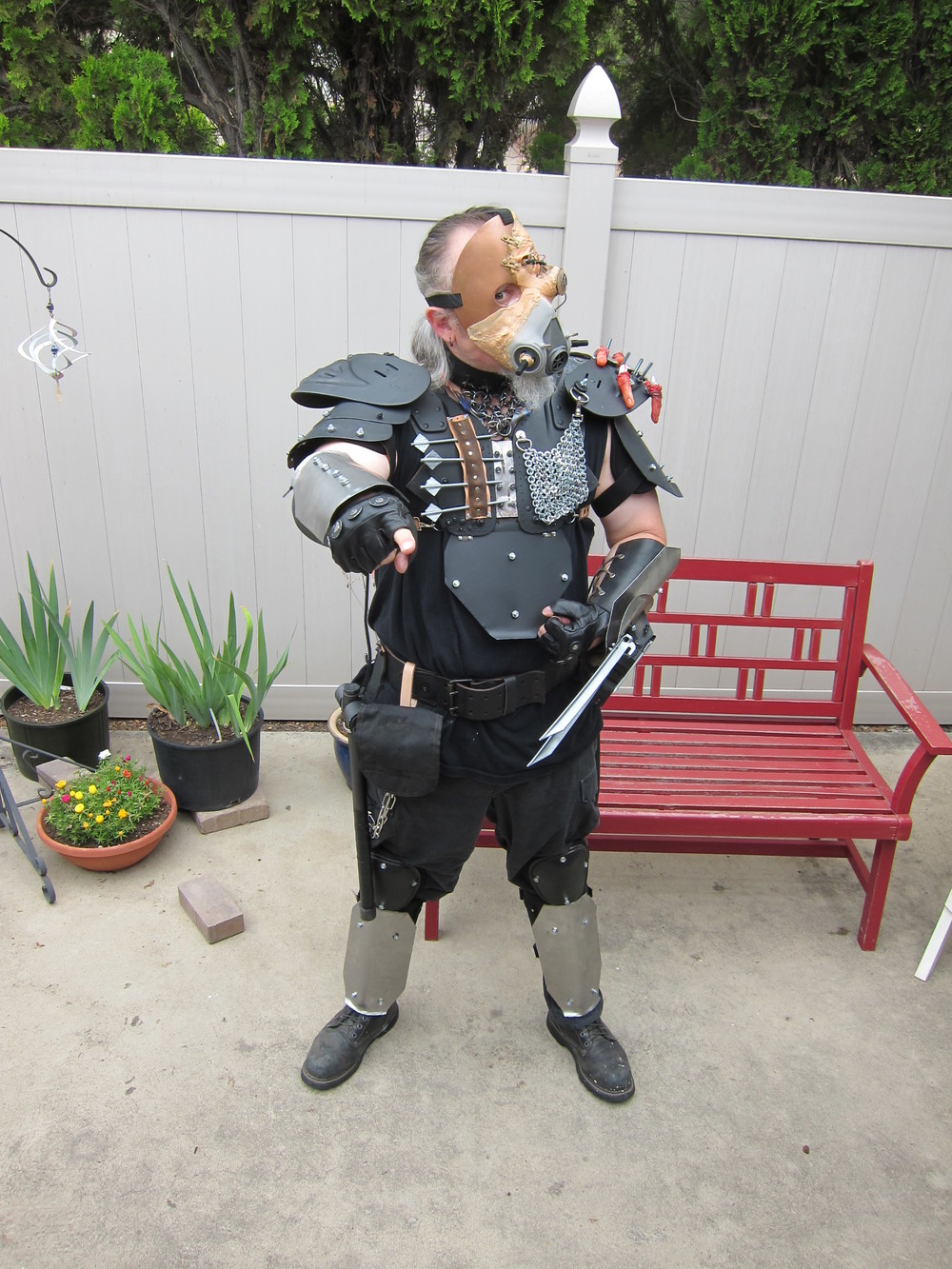 San Diego Comic Con (SDCC) Eric = cosplay original costume inspired by Mad Max (Wasteland Warrior)