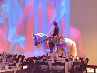 Bettina riding Que Macho after receiving the STREB Action Maverick Award