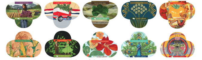 For November and December, we'll have a very special show at the Anvil Gallery: Art of the Heirloom, featuring artwork for the Hudson Valley Seed Library's latest seed packets. The opening will take place on Saturday, November 9th (the SECOND Saturday this time) from 6-9 PM at our new Kingston location, 45 North Front Street, 12401. Artwork by: Adam Ledford Ann-Marie Gillett Bayla Laks Beth Haber Bobbi Angell Christina Hess Eric Losh Erica Hauser Gina Diamanti-Palmer Giselle Potter Hollie Shortino Jessi Carter JoAnn Axford Kristen Egan Kristin Flynn Lynne Bittner Micaela Barrett Molly Rausch Rebecca Ringquist Sarah Snow Susan Wilson Suzanne Fortin Ulana Zahajkewycz