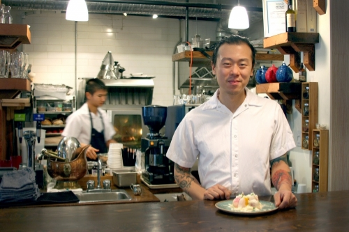 Chef/Owner David Gunawan in his restaurant, The Farmer's Apprentice. This photo originally appeared in The Georgia Straight, October 1, 2013.