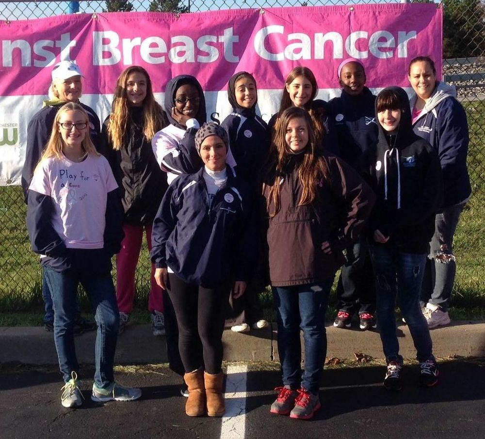 EHS field hockey team for the Making Strides Against Breast Cancer Walk.