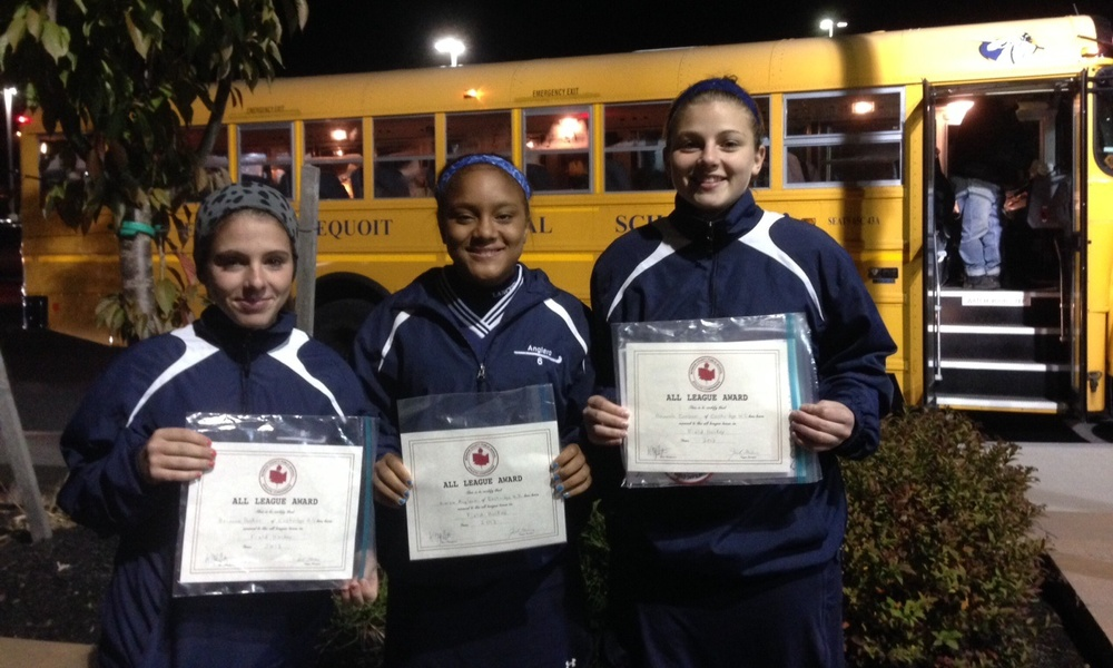 Our All County athletes (l to r): Bri, Kiaira and Hannah (Hannah also named to All State and All Greater Rochester!)