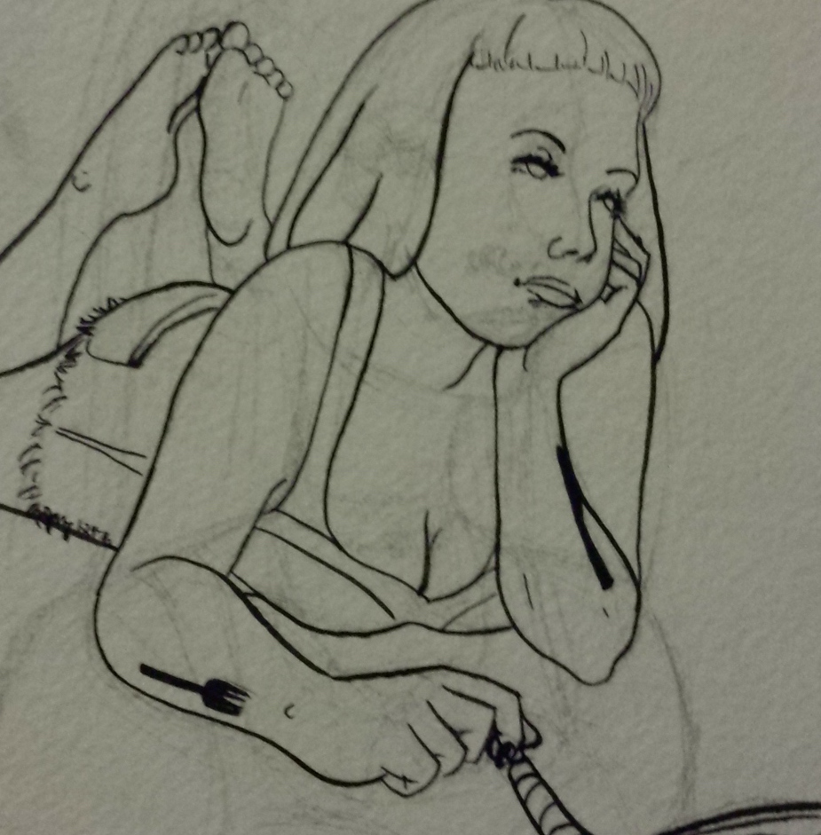 """""""Ariel."""" I've since detailed the inks a bit more, so they don't look so shaky."""