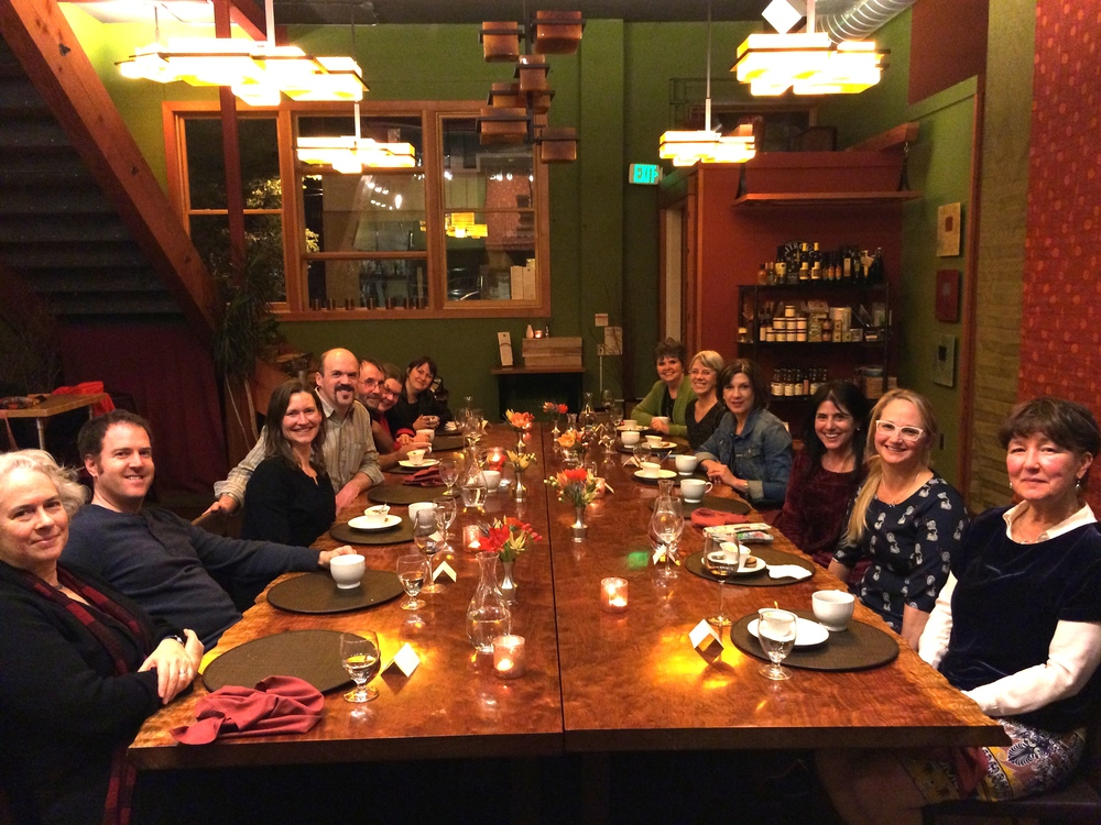 Fabulous dinner with Nic Bishop, Steve Sheinkin, Jennifer Holmes, Candy Fleming, Kate Kubert Puls, Nancy Johnson and the wonderful Western Washington University staff.