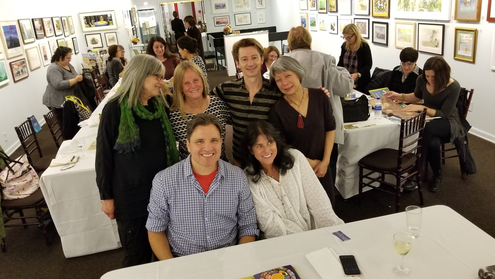 pictured: Susan Roth, Isabelle Warren Lynch, Laurent Linn, Cecilia Yung, John Parra, and me.