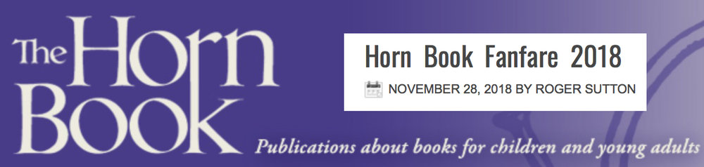 BLUE is a  Horn Book Fanfare  Best Book of 2018!