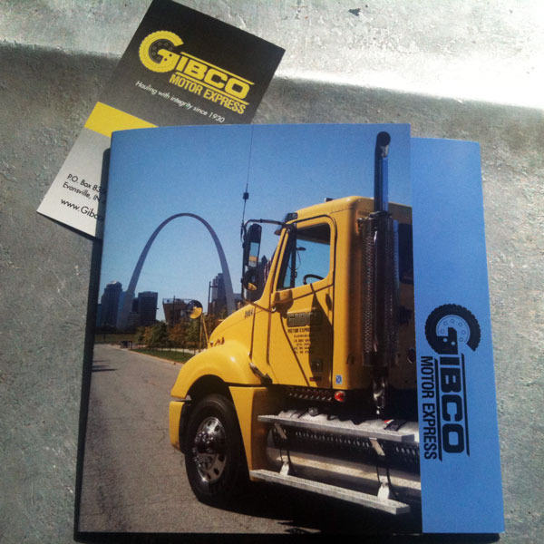 Gibco business card and brochure