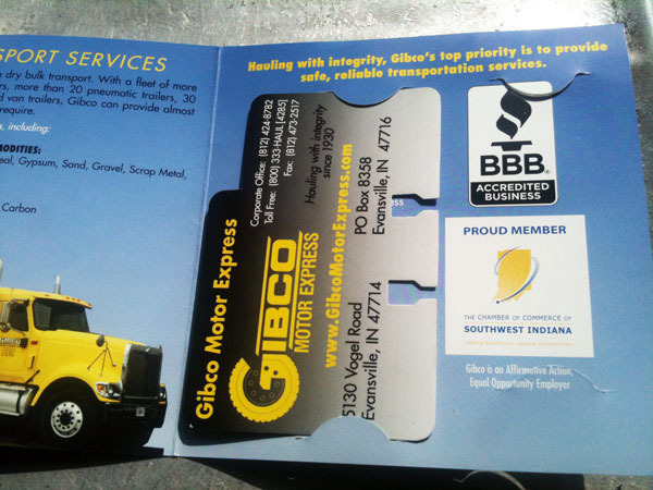 Gibco brochure and Rolodex card