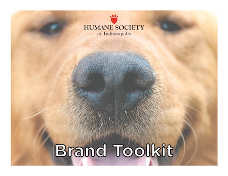 Click the image to view a PDF version of the IndyHumane brand toolkit.