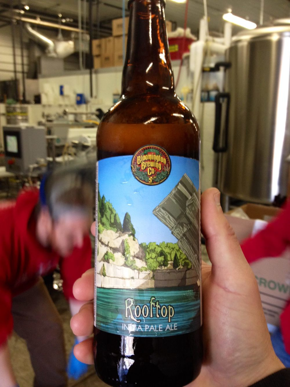 Bloomington Brewing Co.'s first distributed bottled beer, Rooftop IPA, arrives in stores in Bloomington on April 4.