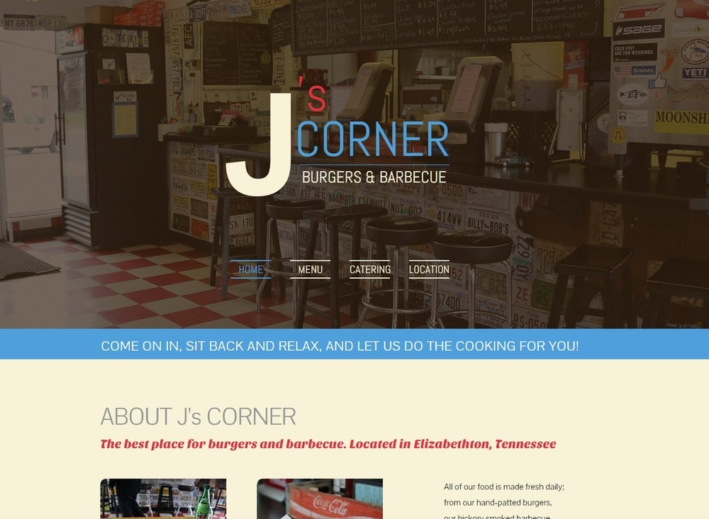 J's Corner Restaurant | Website