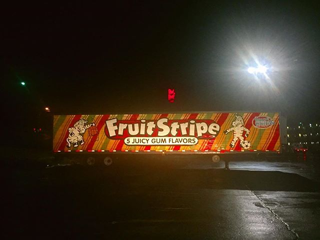 A fruit stripe this size would be like, probably, a total of 1 hour of flavor. I'm not a math whiz anymore, but I'm pretty sure that is 99.999% accurate. So...the question is, who is gonna open up these doors and grab these fruit stripes for all of us common folk? #ibetyoudidntknowthiswasaboutcapitalism #gotem