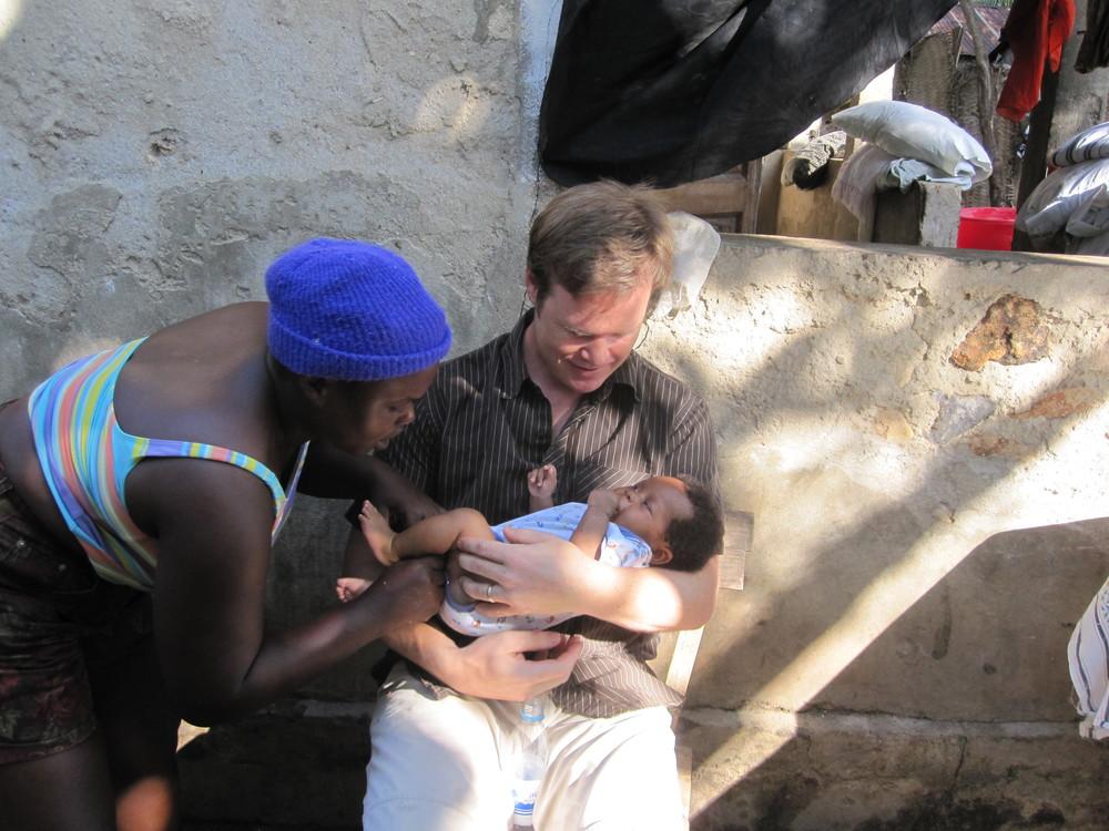 Mark in Haiti during an exploratory trip for community development.