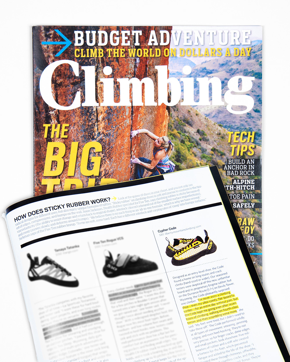 Cypher Code in October 2013 issue of Climbing Magazine.