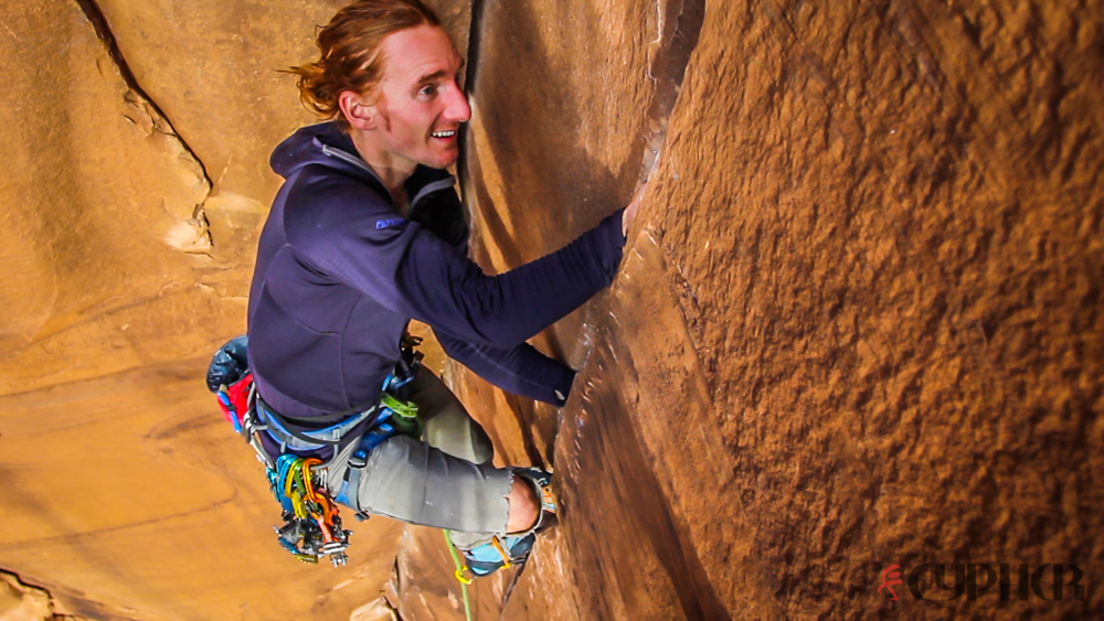 Paul Robertson takes cool-down lap on Private Pizza (5.9).  ©Benjamin L Eaton