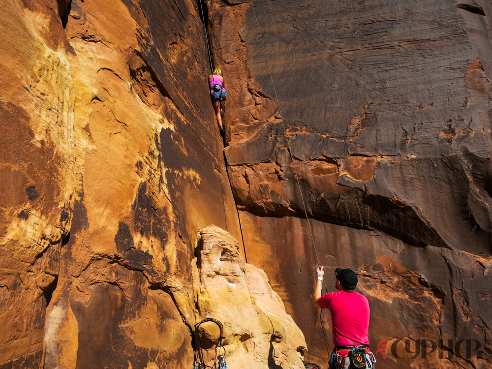 Jennilyn Eaton jams her way up One More Cup of Coffee (510+).  ©Benjamin L Eaton