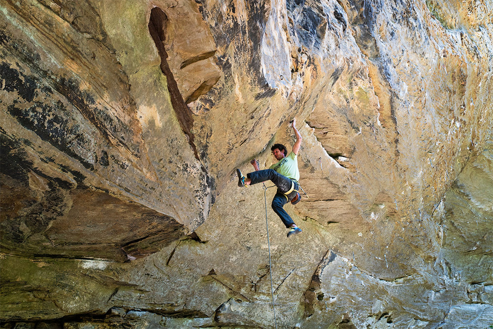 Brendan on Divine Punishment 13b. Reg River Gorge, KY. Photo: Levy Desmarais