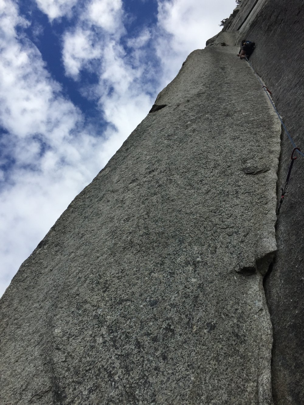 Here's a shot of the Split Pillar pitch on the Grand Wall