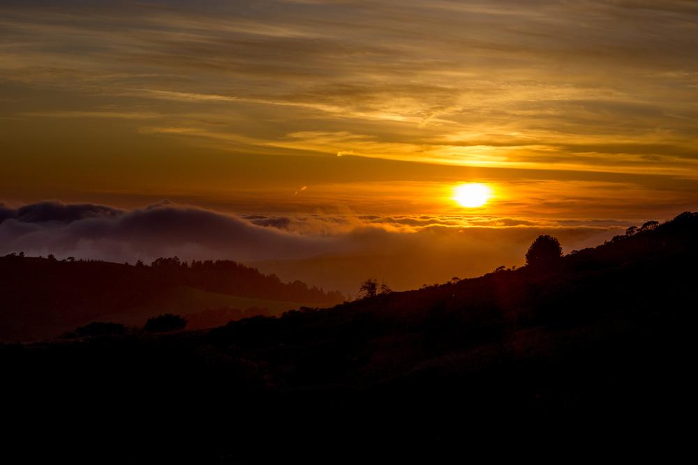 Woodside Mountains Sunset
