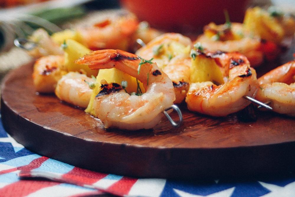 grilled pineapple shrimp