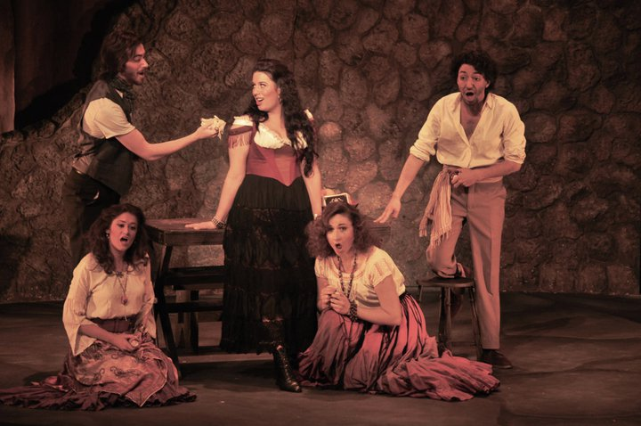 As Carmen in Bizet's Carmen