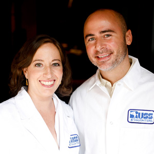 Josh Russ  Tupper  & Niki Russ Federman  Chefs/Owners of Russ & Daughters