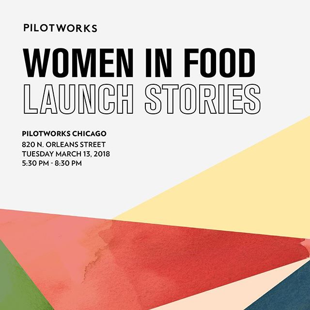 Hey Chicago! Our friends at @pilotworkschicago are opening their kitchen for this event to celebrate International Women's Month. Join them for an evening of panel discussions with the women behind @evelynsfoodlove @eatfatrice @plantedchicago @bellabeezhoneywater planned on the journey of entrepreneurship! Use the code SUPPORTWOMENINFOOD for complimentary tickets.  #food #chicago #IWM #whoruntheworld 🍽