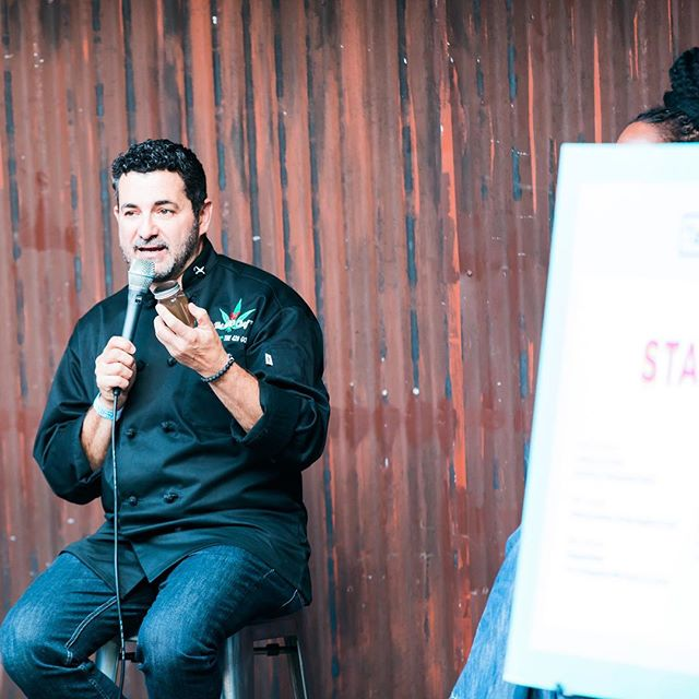 Happy 4/20! At #tastetalksla last fall, we had a dope panel about the present + future of #cannabiscuisine with some of our favorite people: @cannabisedibles420, @jeffthe420chef, Andrea Drummer (@food_elevated) and @_luke_reyes (@lahojafood). #420 #cannabis #weed #marijuana #edibles #cannabiscommunity