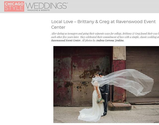 So happy one of our weddings was featured in Chicago Style Weddings!  Go check it out at https://www.chicagostyleweddings.com/local-love-brittany-greg-at-ravenswood-event-center/