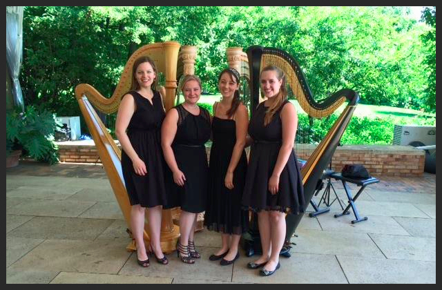 Chicago Harp Quartet at the Chicago Botanic Garden 2014