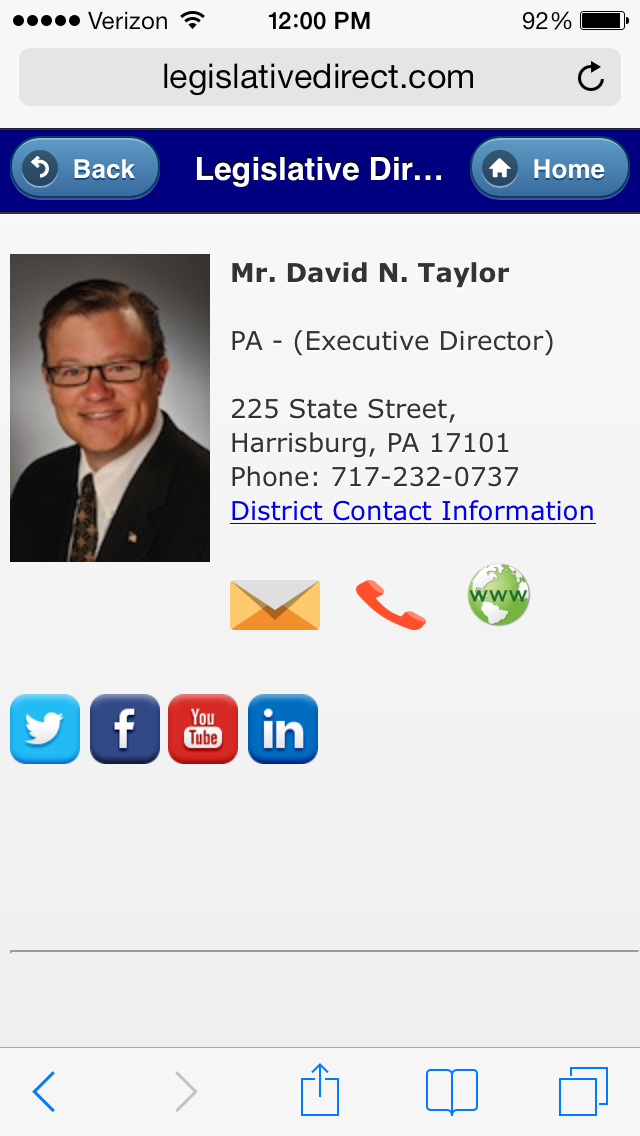 Add your staff directory with pictures, contact information and social media links for your business or association.