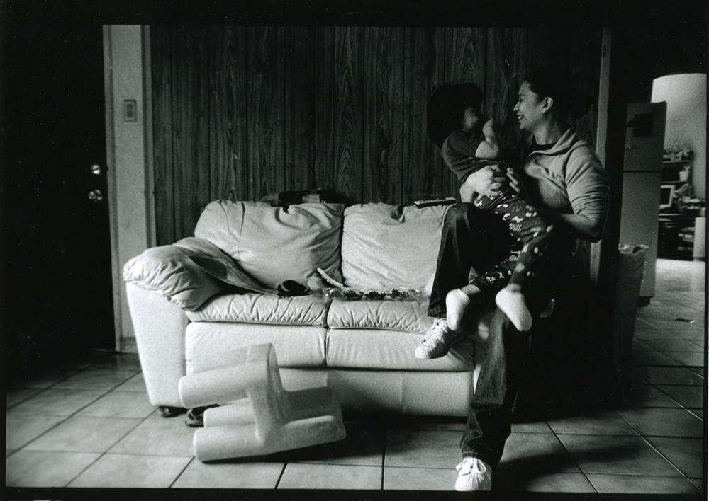 Cesar's sister Evelyn has been his backbone for years. She is pictured here with her five year old son who she has managed to develop a relationship with his uncle, despite the years torn apart by prison.