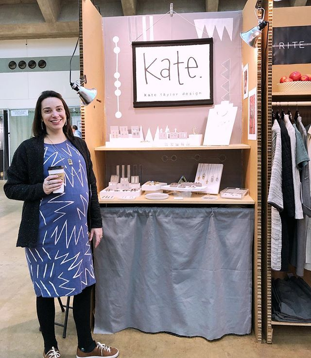 My cute little science fair booth at ACC Baltimore! Come by @craftcouncil booth 3401 to shop Kate Taylor Design and other amazing artists new to the show as part of their emerging artists program 😄 we'll be here until 6 today & tomorrow (Sunday) as well 👋🏻👋🏻👋🏻