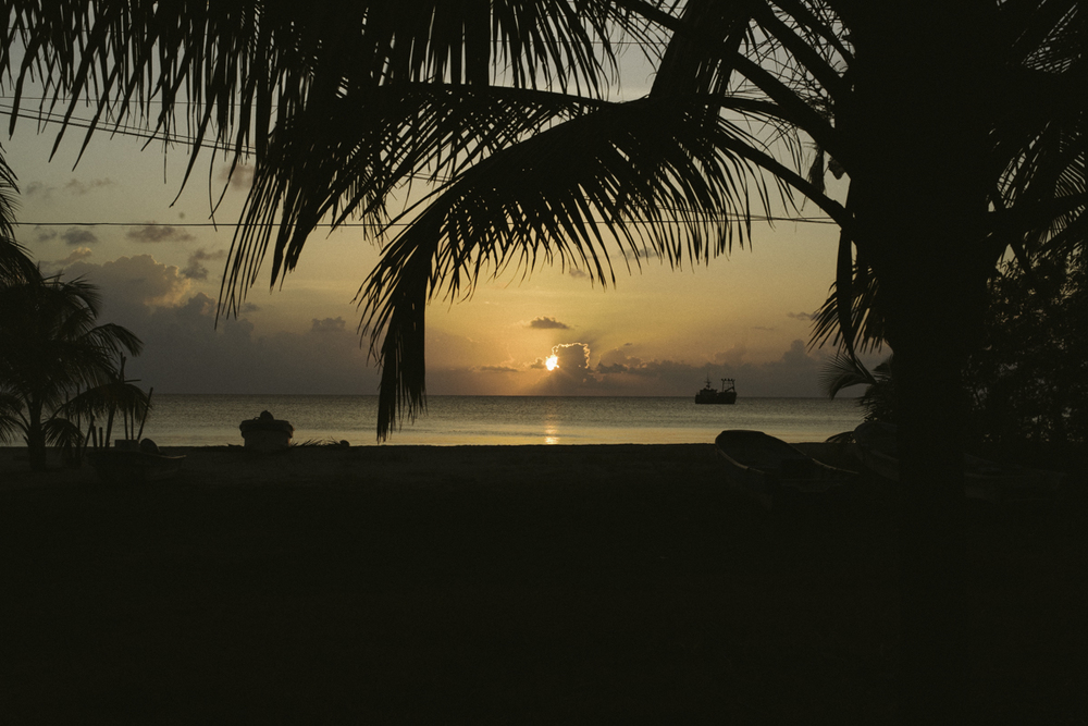 sunset corn island