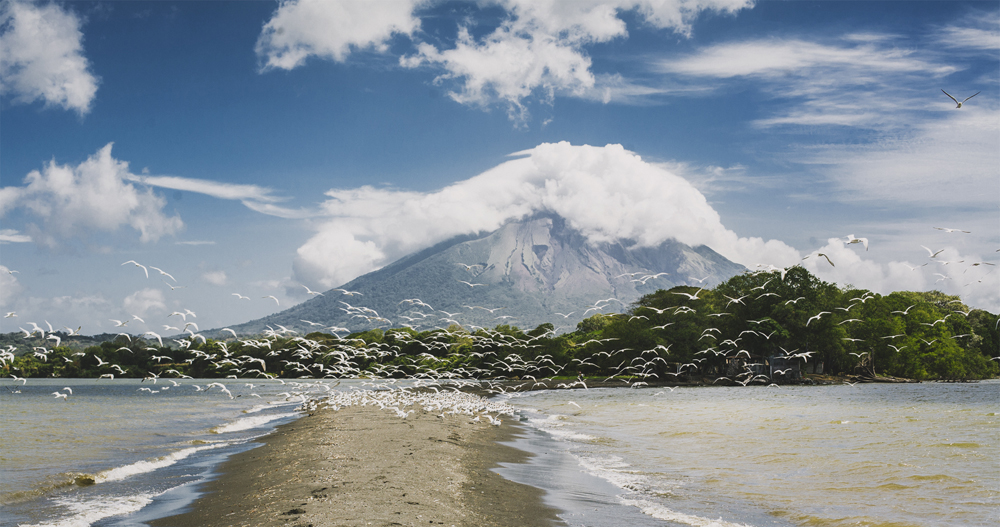 Ometepe Punta Jesus Maria, view of volcano Concepcion.