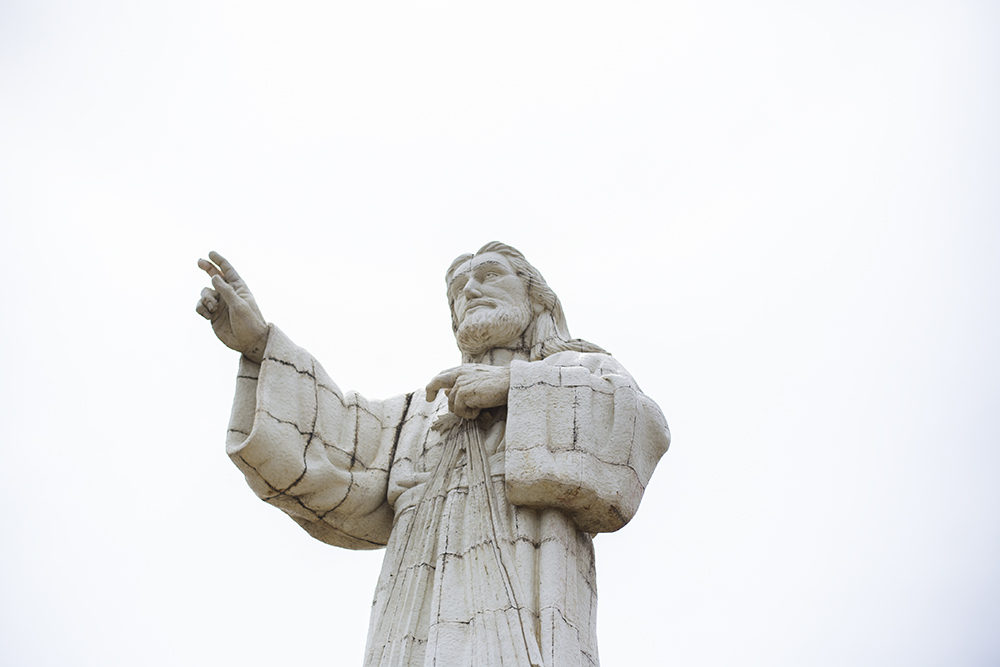 Giant Christ statue blessing San Juan del Sur