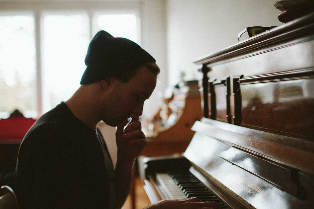 Marcin playing piano
