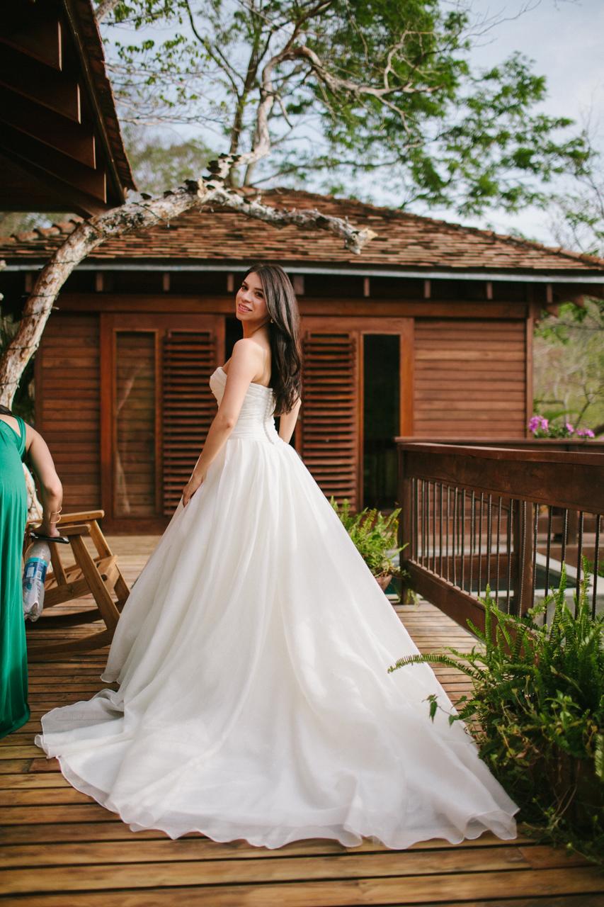 bride aqua nicaragua wedding